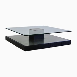 Italian T147 Metal and Cut Glass Coffee Table by Marco Fantoni for Tecno, 1971