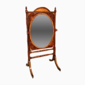 Specchio Regency antico in mogano