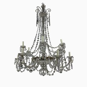 Antique English Cut Glass Chandelier from Perry & Co.