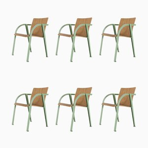 Postmodernist Side Chairs, 1970s, Set of 6