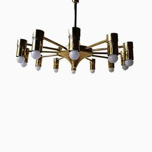 Lámpara de araña italiana grande, años 70