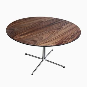 Circular EJ 205 rOsewood & Metal Dining Table by Johannes Foersom & Peter Hiort-Lorenzen, 2003