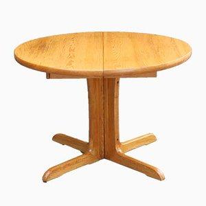 Tavolo da pranzo vintage allungabile in legno di pino massiccio
