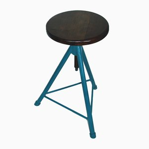 Vintage Industrial Swivel Stool, 1950s
