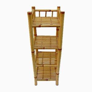 Jardinera vintage de bambú
