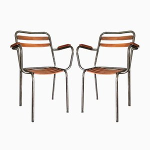 T2 Chairs by Xavier Pauchard for Tolix, 1950s, Set of 2