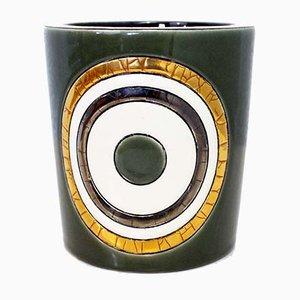 Vaso vintage in ceramica di Longwy, anni '80