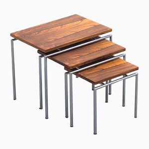 Mesas nido vintage de palisandro