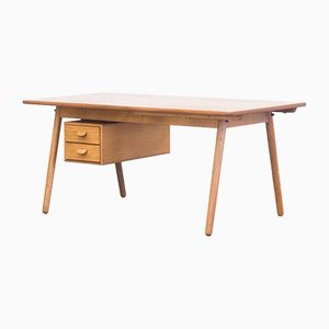 C35 Teak & Oak Extendable Desk by Poul M. Volther for FDB Møbler, 1950s