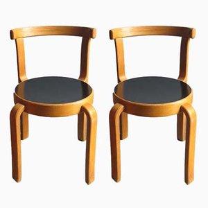 Kinderstühle aus Eiche von Magnus Olesen, 1950er, 2er Set