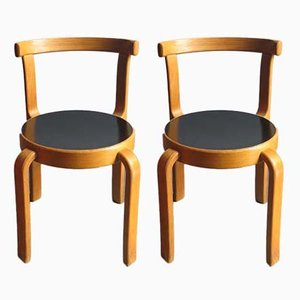 Oak Children's Chairs from Magnus Olesen, 1950s, Set of 2