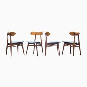 Vintage Kastrup Esszimmerstühle von Louis van Teeffelen für Wébé, 4er Set