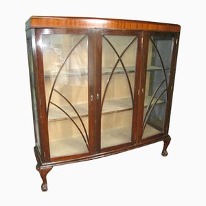 English Mahogany Display Case, 1920s