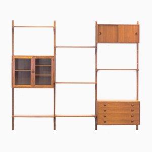 Mueble de pared modular de teca de Thygesen & Sørensen para Hansen & Guldborg, años 60