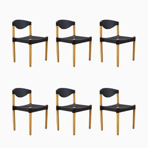Stackable Strax Chairs by Hartmut Lohmeyer for Casala, 1980s, Set of 6
