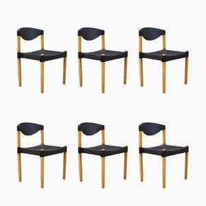 Stapelbare Strax Chairs von Hartmut Lohmeyer für Casala, 1980er, 6er Set