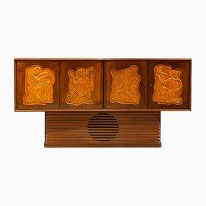 Art Deco Sideboard mit mythologischen Motiven, 1935