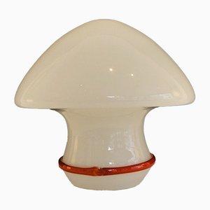 Lámpara de mesa en forma de hongo de cristal de Murano, años 80