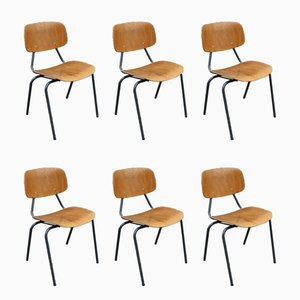 Stackable 305 Chairs by Kho Liang Ie & Wim Crouwel for CAR Katwijk, 1960s, Set of 6