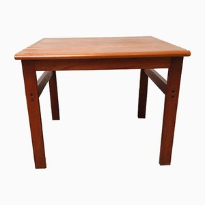 Table d'Appoint Mid-Century en Teck par Illum Wikkelsø pour Niels Eilersen, Danemark