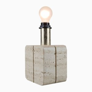 Vintage Travertine Table Lamp, 1970s