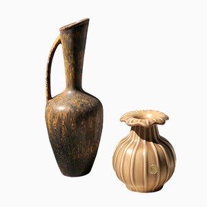 Vasi in ceramica di Eva Jancke-Björck & Gunnar Nylund per Rörstrand & Bo Fajans, anni '50, set di 2