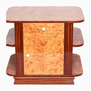 Satinwood & Mahogany Library Side Table, 1930s