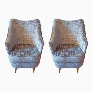 Vintage Armlehnstühle von Ico Parisi für Cassina, 2er Set