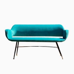 Italienisches Mid-Century Sofa aus Samt, 1950er