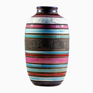 Mid-Century Kambodscha Vase von Aldo Londi für Bitossi, 1957