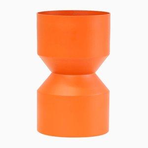 Orange Tri-Cut Vase von Llot Llov, 2018