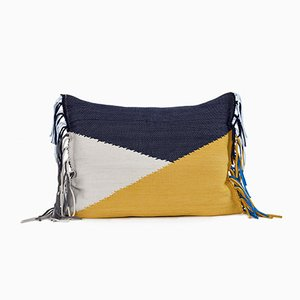 Kissenbezug in Gelb & Blau von Llot Llov
