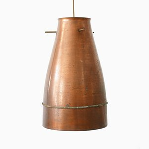 Mid Century Modern German Copper Pendant Lamp, 1950s