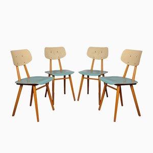 Esszimmerstühle aus Schichtholz von TON, 1960er, 4er Set
