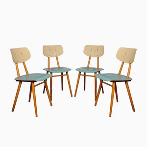 Plywood Dining Chairs from TON, 1960s, Set of 4