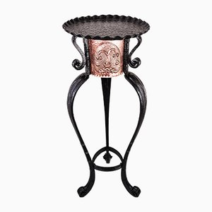 Art Deco Hammered Copper Flower Stand, 1920s