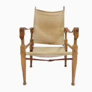 Sedia Safari in pelle e quercia di Wilhelm Kienzle & Klint Kaare per Wohnbedarf, anni '50