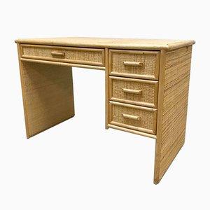 Französischer Vintage Schreibtisch aus Bambus, 1970er