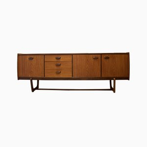 Credenza Mid-Century impiallacciata in teak di William Lawrence of Nottingham, anni '60