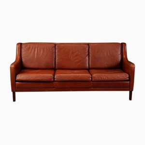 Vintage Danish Leather Sofa, 1970s