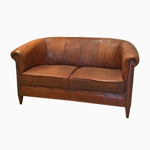 Vintage Dutch Sheep Leather Sofa, 1980s