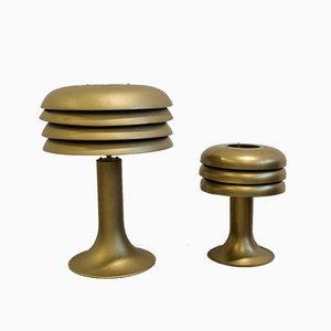 BN-25 & BN-26 Tischlampen-Set aus Metall von Hans-Agne Jakobsson, 1960er