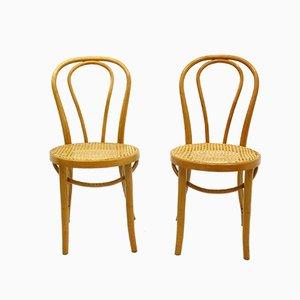 Vintage Beistellstühle aus Holz, 1970er, 2er Set