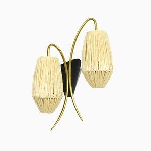 Mid-Century Wandlampe aus Messing, 1960er