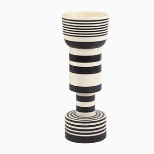 Vaso vintage in ceramica di Ettore Sottsass per Bitossi, anni '80
