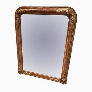 Espejo estilo Louis Philippe francés antiguo, década de 1860