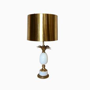 Lámpara de mesa francesa de bronce y latón de Maison Charles, años 70