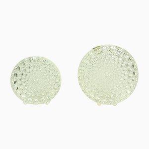 Jarrones alemanes Op Art de cristal de Beyer, años 60. Juego de 2