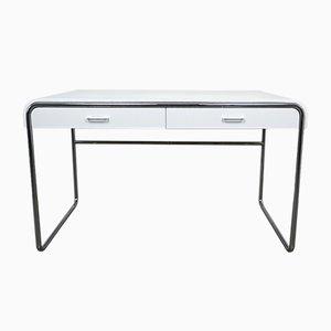 Deutscher minimalistischer verchromter Schreibtisch von Läsko, 1970er