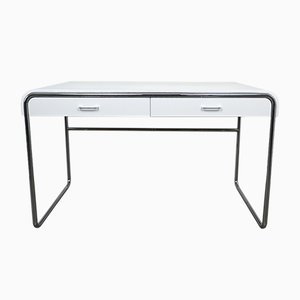 Minimalist German Chrome Plated Desk from Läsko, 1970s